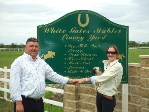 William King and Avril Cassells at White Gates Stables